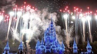 Holiday Wishes Fireworks 2018 Full Show at Mickey's Very Merry Christmas Party, Walt Disney World