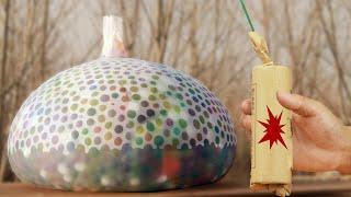 Experiment Fireworks vs  orbeez