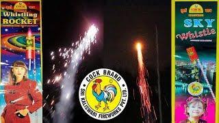 Whistling Rocket vs Sky Whistle from Cock Brand - Diwali Fireworks 2019