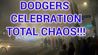 ***FIREWORKS ALMOST HIT POLICE HELICOPTER DURING LOS ANGELES DODGER WORLD SERIES WIN CELEBRATIONS***