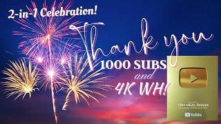 Thank YOU 1000 SUBSCRIBERS! | Grand Finale Virtual Fireworks |  2-in-1 Celebration | Road to 10K