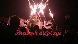 Watching fireworks displays