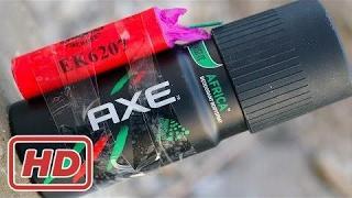 (@@) Хлопушки против дезодорант Axe - очень опасный эксперимент
