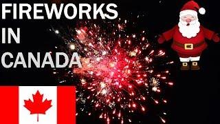 FIREWORKS in CANADA || CHRISTMAS EVE CELEBRATION ||
