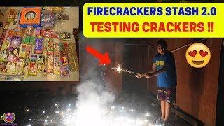 TESTING CRACKERS 2.0 | FIREWORKS STASH | FARUKH NAGAR CRACKERS |
