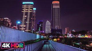 【4KHDR】Taichung Evening Walk|City Light|Christmas Lights|Fireworks|台中七期徒步之旅巧遇林酒店跨年煙火試放?|Taiwan Walk