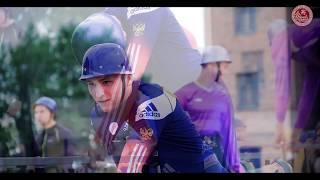 Пожарно-спасательный спорт. Пиротехнические фонтаны на церемонии открытия соревнований.