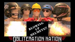 Slow Mo Helmet Testing: Fireworks VS Helmets