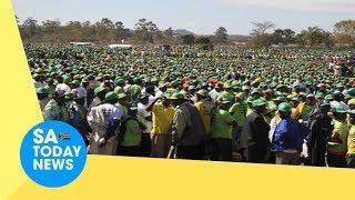 EDWillNeverWalkAlone: Fireworks as Zanu PF youths organise massive solidarity march for ED Mnangagwa
