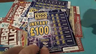 "Scratchcards""Special Fireworks""BIG  game.. Merry Millions..Instant £100..etc"