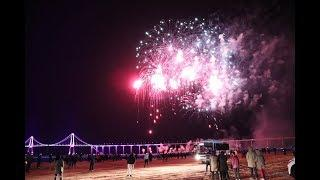 (신안군 천사대교 개통 기념 불꽃쇼)angel bridge opening fireworks show in Shinan-gun, south korea