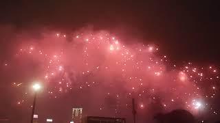 National Day of China HongKong fireworks