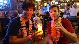 POLYNESIAN STAYCATION (DAY 5) Lava Pool Relaxing, Sea Raycer Exploring, Fireworks, And Trader Sam's!