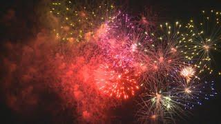 4th of July fireworks show at Segra Park in Columbia, SC: July 3, 2019