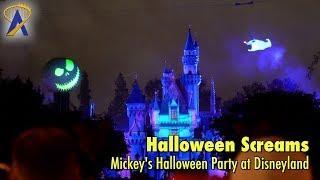 FULL 4K Halloween Screams fireworks during Mickey's Halloween Party at Disneyland