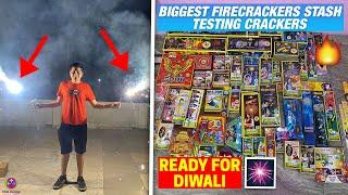 TESTING BIGGEST CRACKERS STASH 2020 - FIREWORKS STASH !!