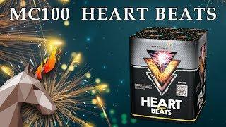 "MC100 HEART BEATS / Сердцебиение (1,2"" x 25) пиротехника оптом ""ОГОНЁК"""