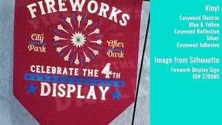 4th of July Fireworks Garden Flag with Heat Transfer Vinyl