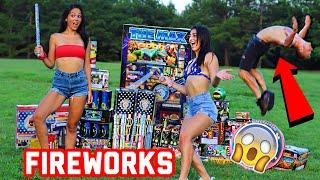 FIREWORKS VS INSANE FLIPS!