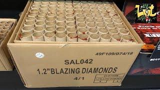 Blazing Diamonds 4x25 Shots Cakebox Salon Roger Fireworks
