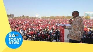 Fireworks as people's favourite opposition leader Nelson Chamisa invades Mnangagwa's home province