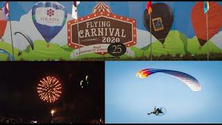 Flying CARNIVAL with fireworks