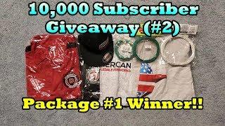 10,000 Subscriber Giveaway (#2) Drawing - American Fireworks Apparel Package WINNER!!