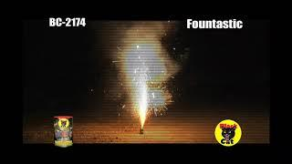 BC2174 Black Cat Fireworks Fountastic Fountain