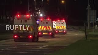 UK: Fireworks thrown at police vans at fresh protest in N. Ireland
