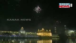 Punjab: Fireworks Adorn The Sky Around Golden Temple in Amritsar, On Bandi Chhor Divas Today