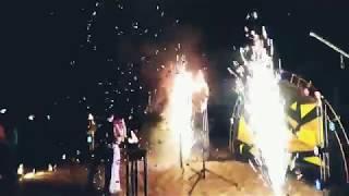 Конфетти машина в финале огненного шоу