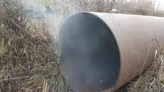 Взрываем петарды в трубе