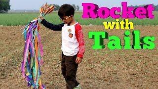 Rocket with colorful Tails, Rocket Tails,Rocket baji big Tails, Fireworks