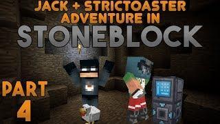 Fireworks!? Jack & Strictoaster play Minecraft: Stoneblock Part 4