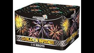 MC114 Золотой паук / GOLDEN SPIDER салют Maxsem Fireworks NEW