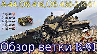 Обзор ветки К-91. От А-44 к топу. Из Средних танков захотели сделать ПТ⚡ А надо было ?