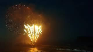 150 celebrations for Saltburn pier, in North Yorkshire.  Fireworks and the turning on of the ligts