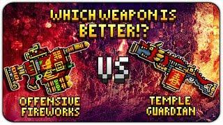 Offensive Fireworks VS Temple Guardian (Pixel Gun 3D) 50+ kills