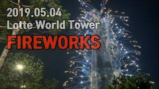 [4K] 2019 롯데월드타워 불꽃놀이 ✨ Lotte World Tower Fireworks