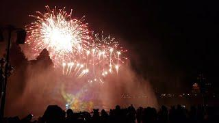 FULL - Mickey's Mix Magic (with fireworks) from the Rivers of America at Disneyland Park