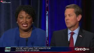 Fireworks during first debate for Georgia's governor between Stacey Abrams and Brian Kemp