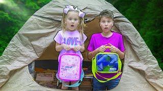 Полина и Серёжа 24 часа в палатке челлендж