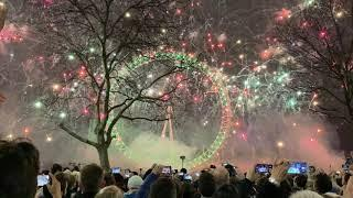 London New Years Eve Fireworks 2019 4K 60fps