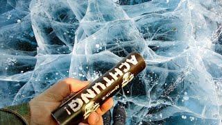 Взрываем Петарды на Льду и в Воде | Самая мощная петарда Корсар 12 | Взрыв петард под водой