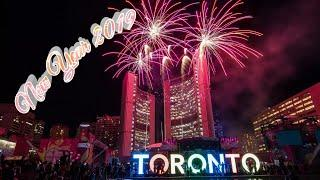 New Year 2019 || Toronto Downtown || Countdown || Fireworks || Celebration.