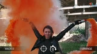Цветной дым - Maxsem - MA0513 orange - оранжевый- ручной - время дымления 60 сек.  #PYROtehnik