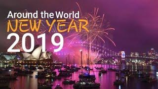 NEW YEAR'S EVE 2019 — Fireworks Display — Dubai, Bangkok, Kuala Lumpur, Berlin, London, and Paris