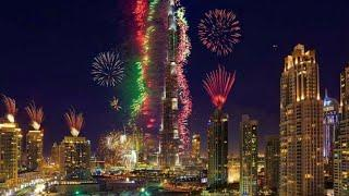 Amazing Fireworks of Burj Khalifa| National Day Celebration 2020|49th UAE National Day.