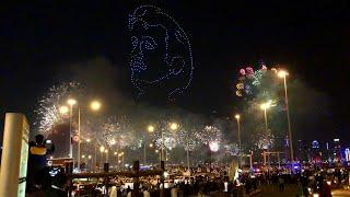 Qatar National day 2020 Fireworks in Cornish Doha