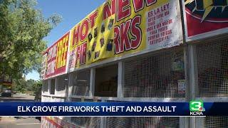 Woman attacked at Elk Grove fireworks stand